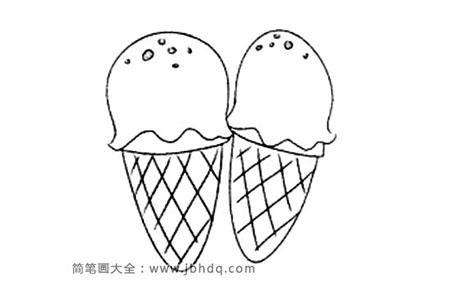 冰激凌简笔画图片