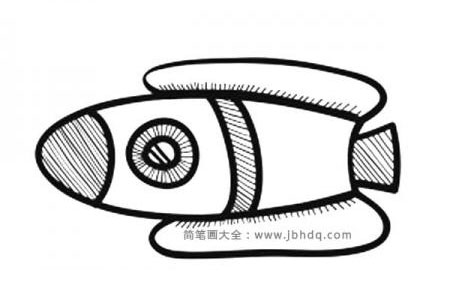 可爱的Q版火箭简笔画图片