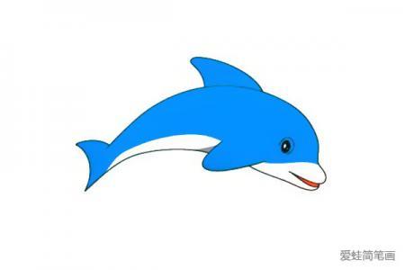 海豚简笔画怎么画