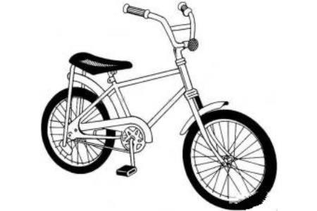 带铃铛的自行车简笔画