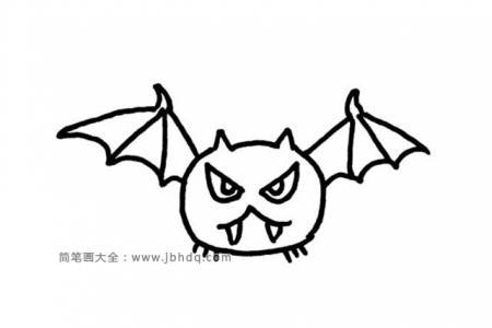 4张简单的蝙蝠简笔画图片