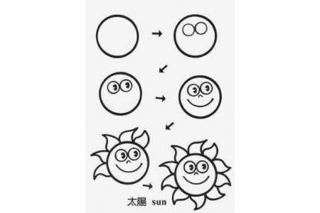 如何画太阳 太阳的简笔画教程