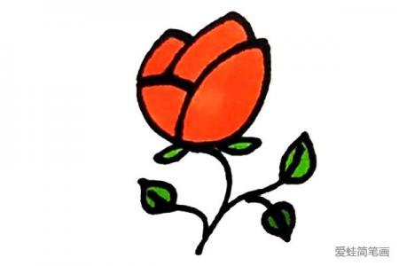 红红的玫瑰花