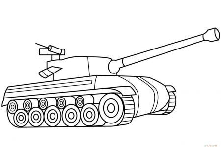 关于坦克的简笔画画法