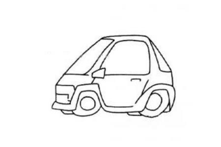 儿童简笔画 简易小汽车2
