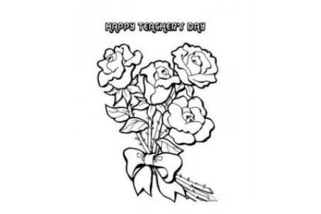 献给老师的玫瑰花简笔画图片