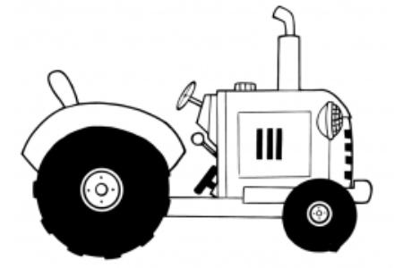 古董农场拖拉机