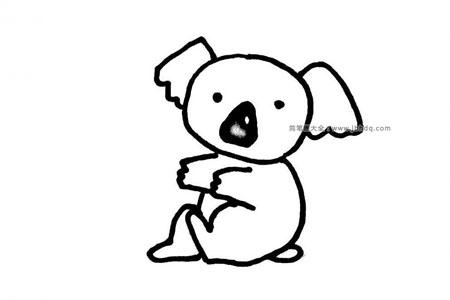 可爱的考拉简笔画