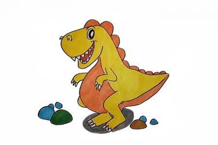 怎么画恐龙