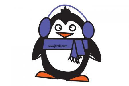 3张可爱的企鹅简笔画带颜色