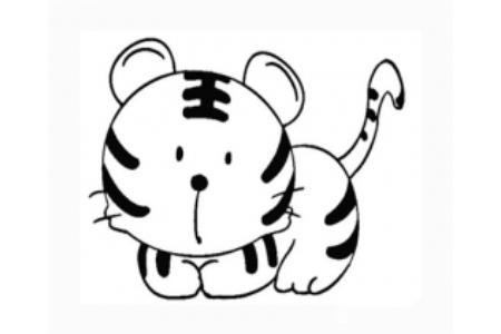 我的虎爸爸简笔画