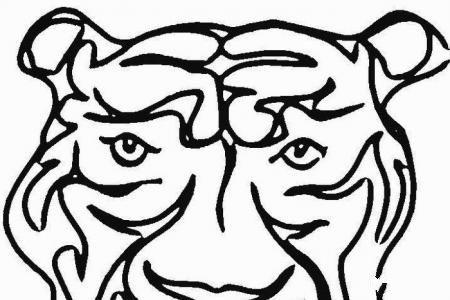 凶猛的老虎头像简笔画
