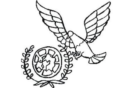 和平鸽与橄榄枝简笔画图片