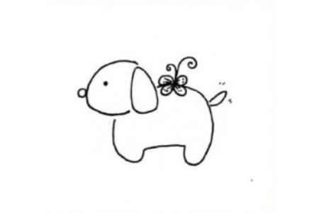 幼儿小狗简笔画图片