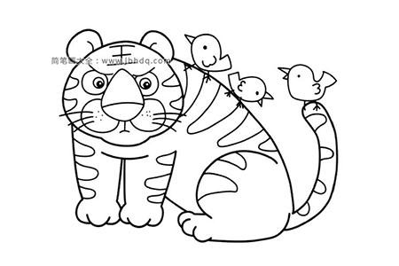 老虎和小鸟
