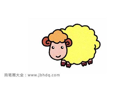 6步画一只呆萌萌的小绵羊