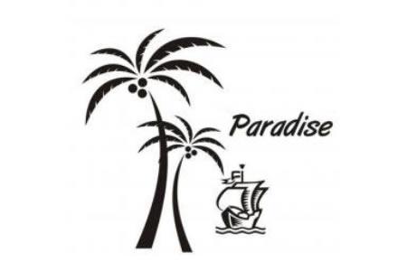 2016海边的椰子树简笔画图案大全