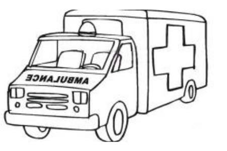 大型救护车简笔画