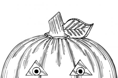 南瓜灯的画法
