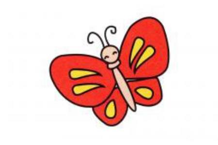 蝴蝶简笔画画法