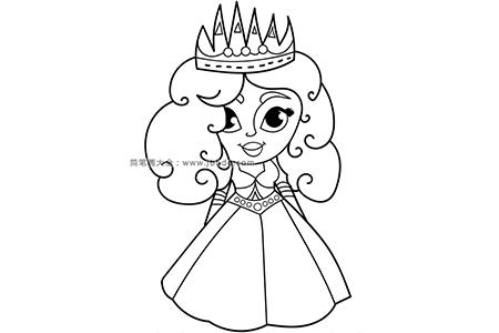 可爱的卡通公主