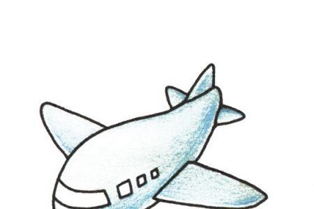幼儿简笔画 可爱的小飞机