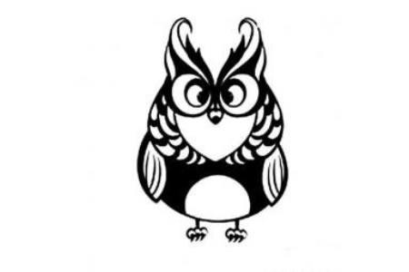 好看的猫头鹰简笔画