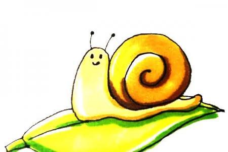儿童轻松学画蜗牛