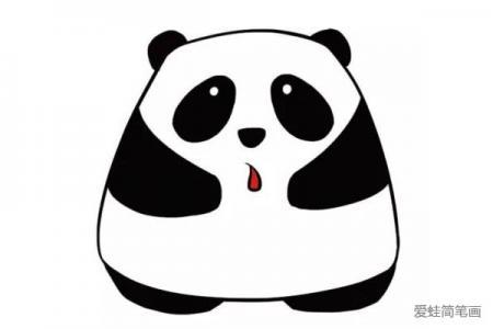 三张超卡哇伊大熊猫简笔画