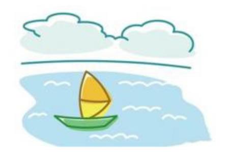 简笔画帆船的画法