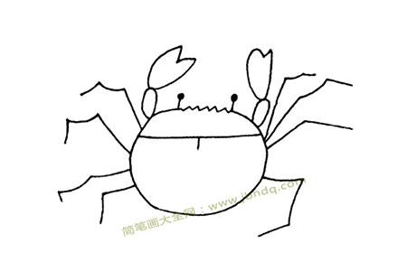 简单的螃蟹简笔画图片