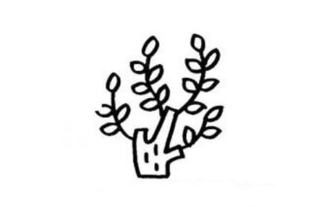 幼儿大树简笔画 刚发芽的大树
