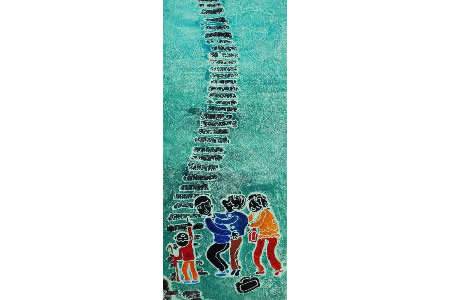 重阳节登高图,重阳节主题儿童画作品欣赏