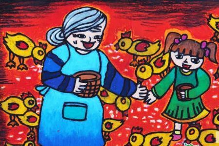 九九重阳节儿童画-重阳节真开心