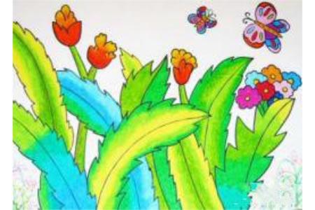 春天—花儿与蝴蝶