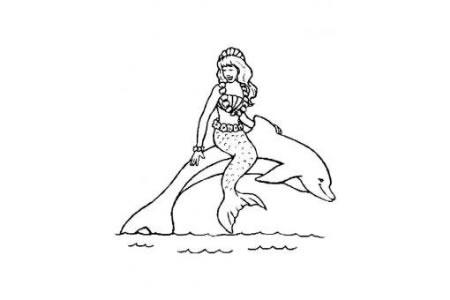 动漫人物简笔画 美人鱼简笔画图片