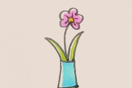简笔画之花瓶