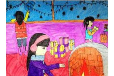 圣诞节儿童画 圣诞节的准备