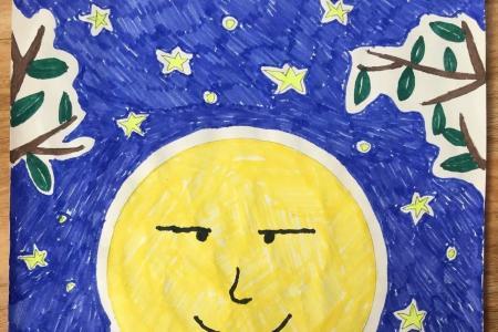 大大的月亮庆中秋