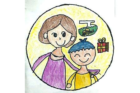 7张母亲节的儿童画图片