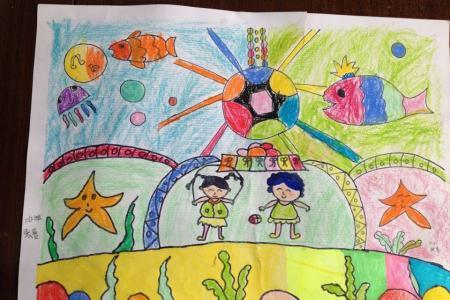五一劳动节的儿童画-我们的美好生活