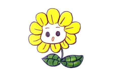 植物大战僵尸中的向日葵怎么画