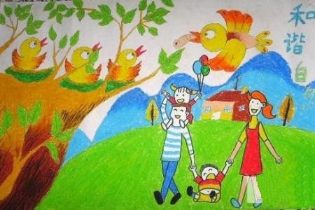 五一劳动节儿童画-美好的生活