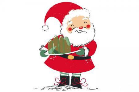 童趣可爱的圣诞老人插画