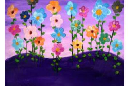 儿童画那朵花