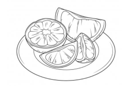 盘子里的橙子