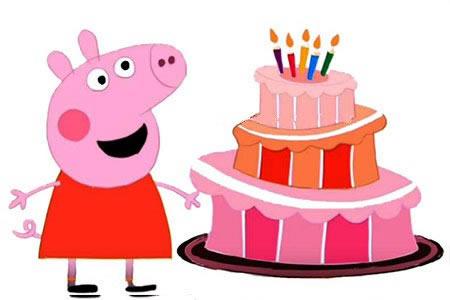 小猪佩奇与生日蛋糕