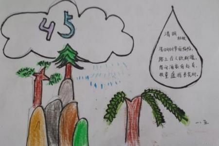 清明情思清明节小学生绘画图片展示