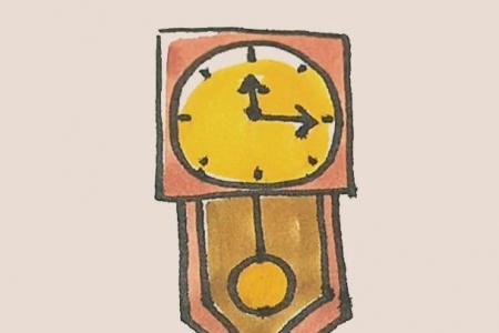简笔画之挂钟