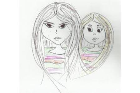 三八妇女节送给妈妈的画作品之我们俩